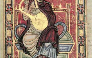 Illustrated Manuscript Icon of David the Psalmist