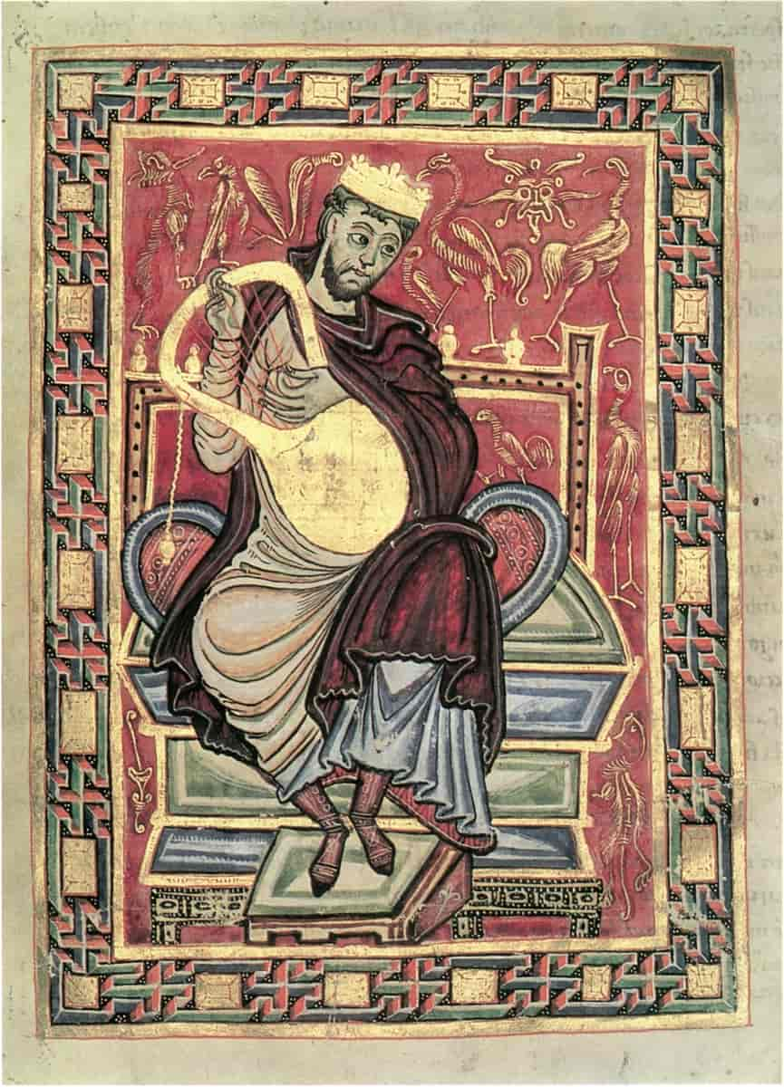 Illustrated Manuscript Icon of David the Psalmist
