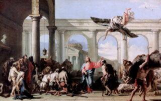 Healing at Bethesda by Giovanni Domenico Tiepolo