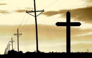 Utility Poles Resembling Cross